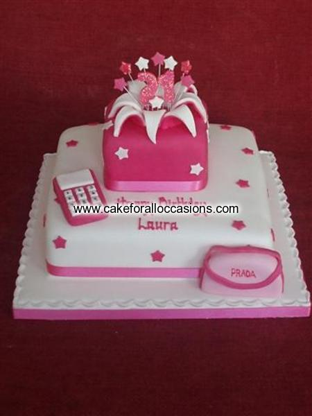 Cake L134 Womens Birthday Cakes